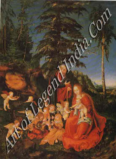 "The Great Artist Lucas Cranach Painting ""The Rest on the Flight into Egypt"" 1504 28 x 20 ¾ Staatliche Museum, West Berlin"