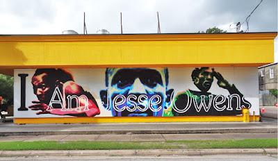 Breakfast Klub - I Am Jesse Owens mural
