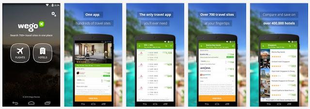 تطبيق مجاني لمعرفة ومقارنة أسعار حجز تزاكر الطيران والفنادق لجميع الدول للأندرويد Wego Flights & Hotels