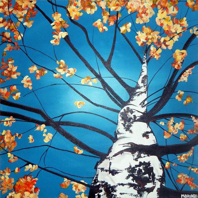 осень в живописи Марин Райт