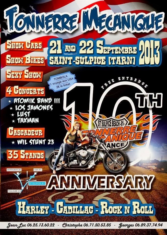 10th Anniversaire de Tonnerre Mécanique St Sulpice/Tarn 21/22 Sept 2013  Tonner10