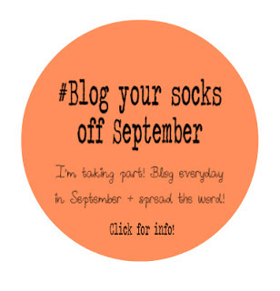 Blog Your Socks Off September