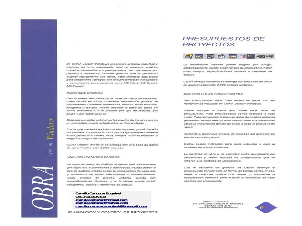 Presupuestos y control obra civil procedimientos para - Presupuestos de obras ...