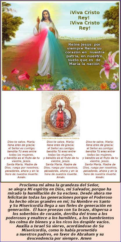 imagen de jesus misericordioso y su madre con agradecimiento el magnificat