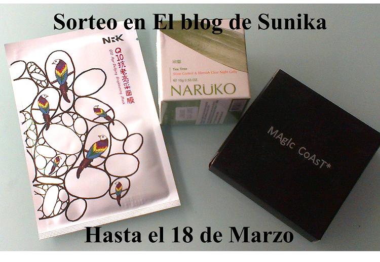Sorteo en El blog de Sunika