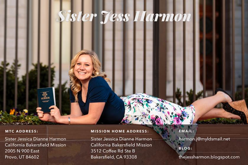 Sister Harmon California Mission!