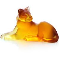figura de un felino labrado en ambar | foro de minerales