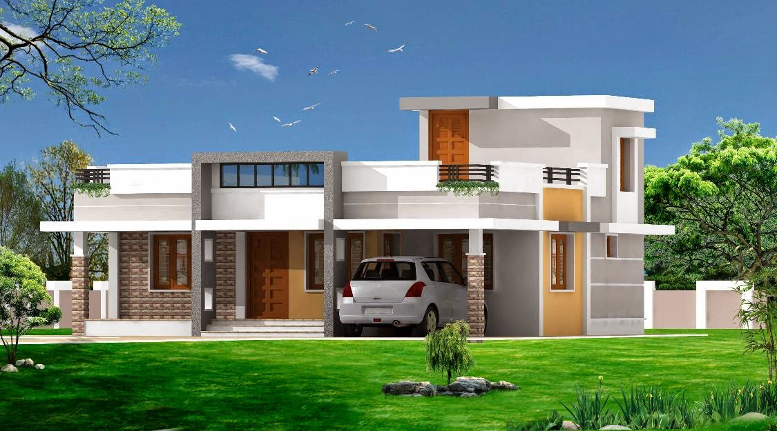 Kerala model house plans and designs wood design ideas for New model house plan