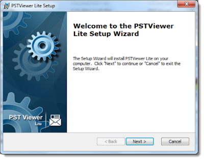 """Image shows """"Welcome to the EmlViewer Lite Setup Wizard."""""""