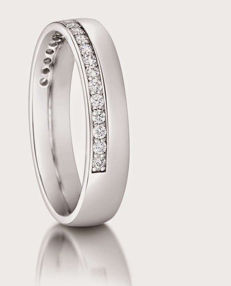 Womens Simple Wedding Rings White Gold Elegant Cheap