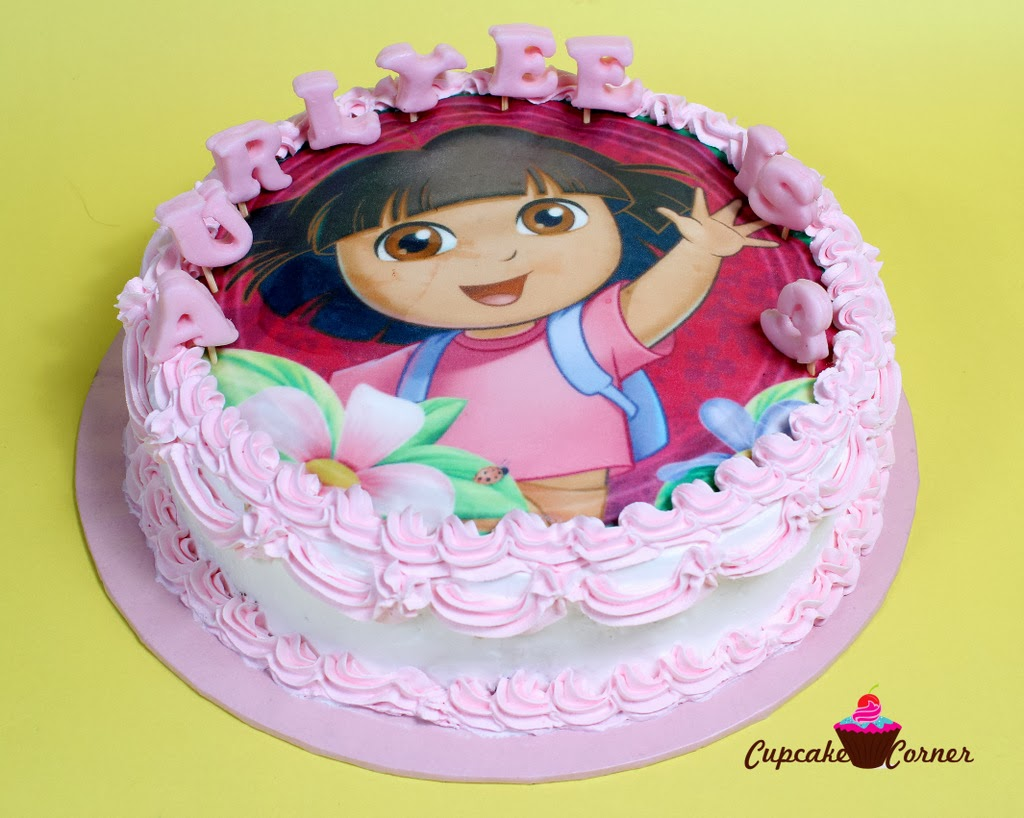 Personalised Dora The Explorer Birthday Cake