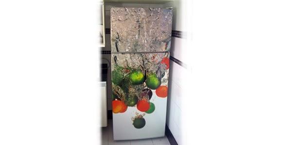 Armário Embutido Na Parede ~ COZINHA  geladeira frutas eágua ~ VINTAGE adesi