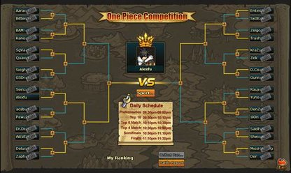 Pockie Pirates one piece competition