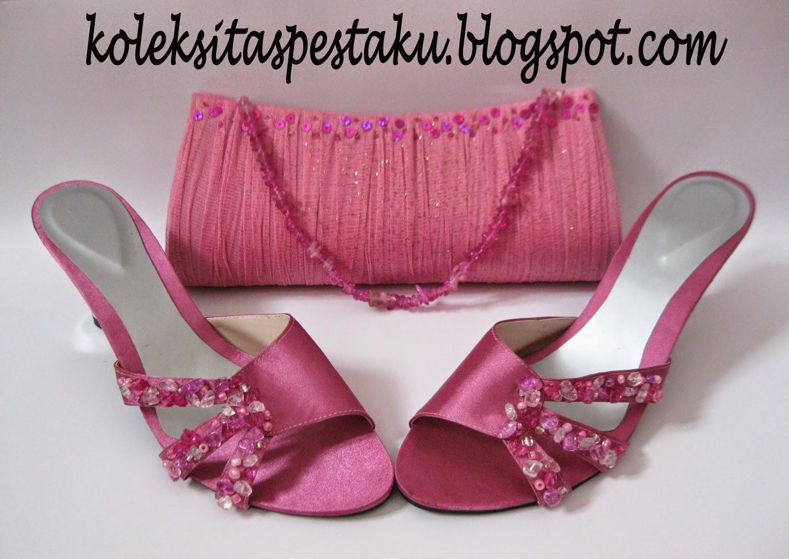 Pink Jambu Cantik Mewah Tas Pesta Clutch Bag