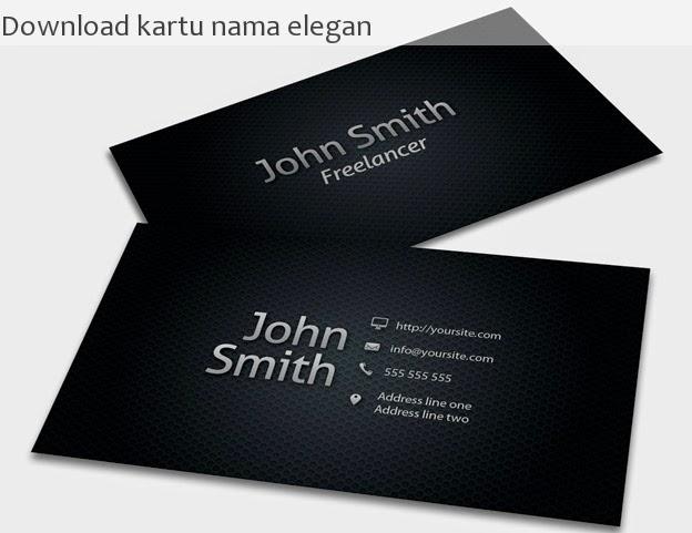 Download gratis kartu nama cantik