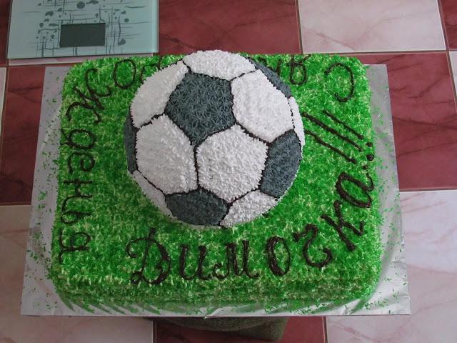 Торт в форме футбольного мяча своими руками 7