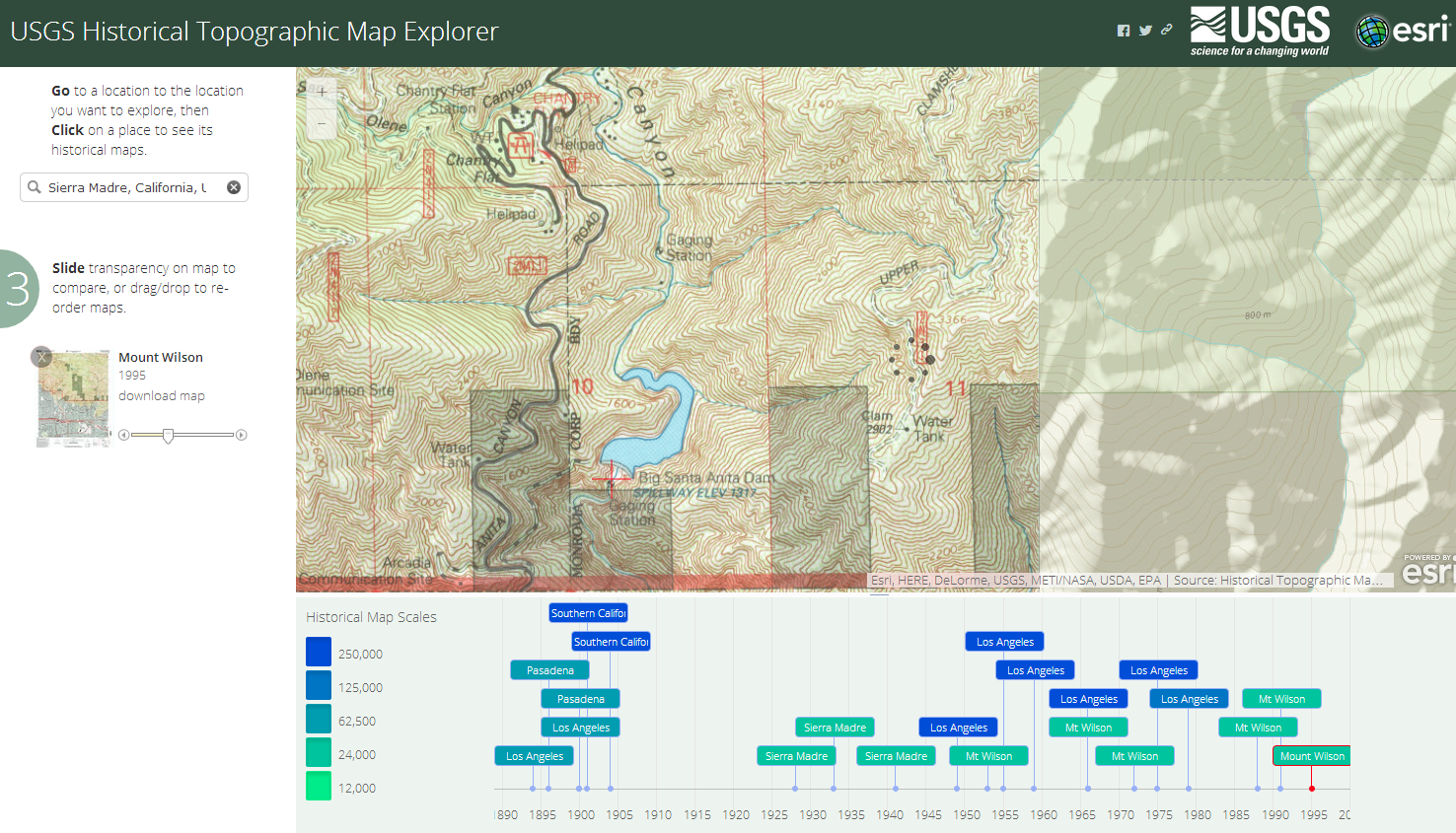 WiSAR and GIS Blog: USGS Historical Topographic Map Explorer for