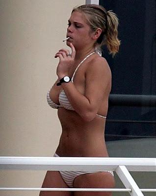 Chelsy davy pics white bikini