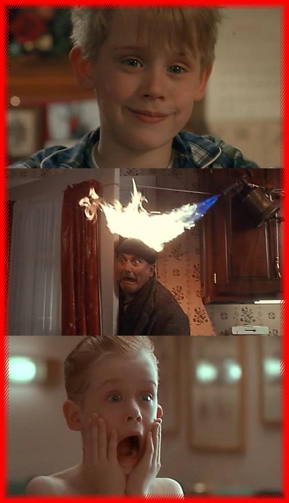 """Escena de """"Mi Pobre Angelito""""."""