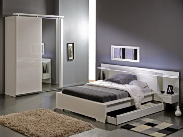 15 cool ideas for bed headboard with storage space and shelves. Black Bedroom Furniture Sets. Home Design Ideas