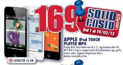 Nel volantino nazionale di Trony nuove offerte sottocosto fino a metà febbraio 2012 tra cui Apple iPod Touch