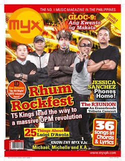 T5 Bands, Urbandub, Wolfgang, Rico Blanco, Kamikazee and Parokya Ni Edgar on the cover of MYX Magazine