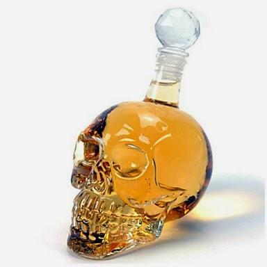 Botella en forma de Calavera