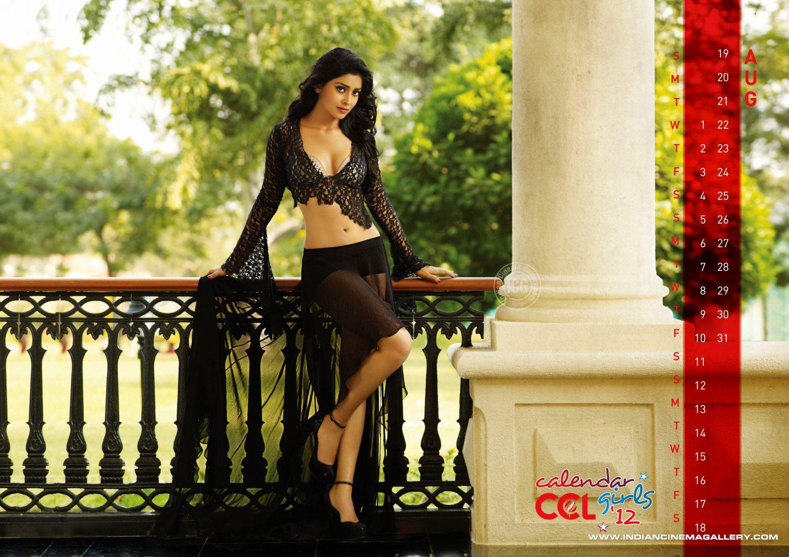 in ccl 2 calendar photo shoot august deeksha seth shriya saran in ccl ...