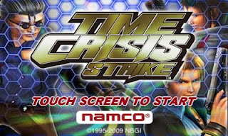 Screenshots of the Time Crisis Strike for Android tablet, phone.