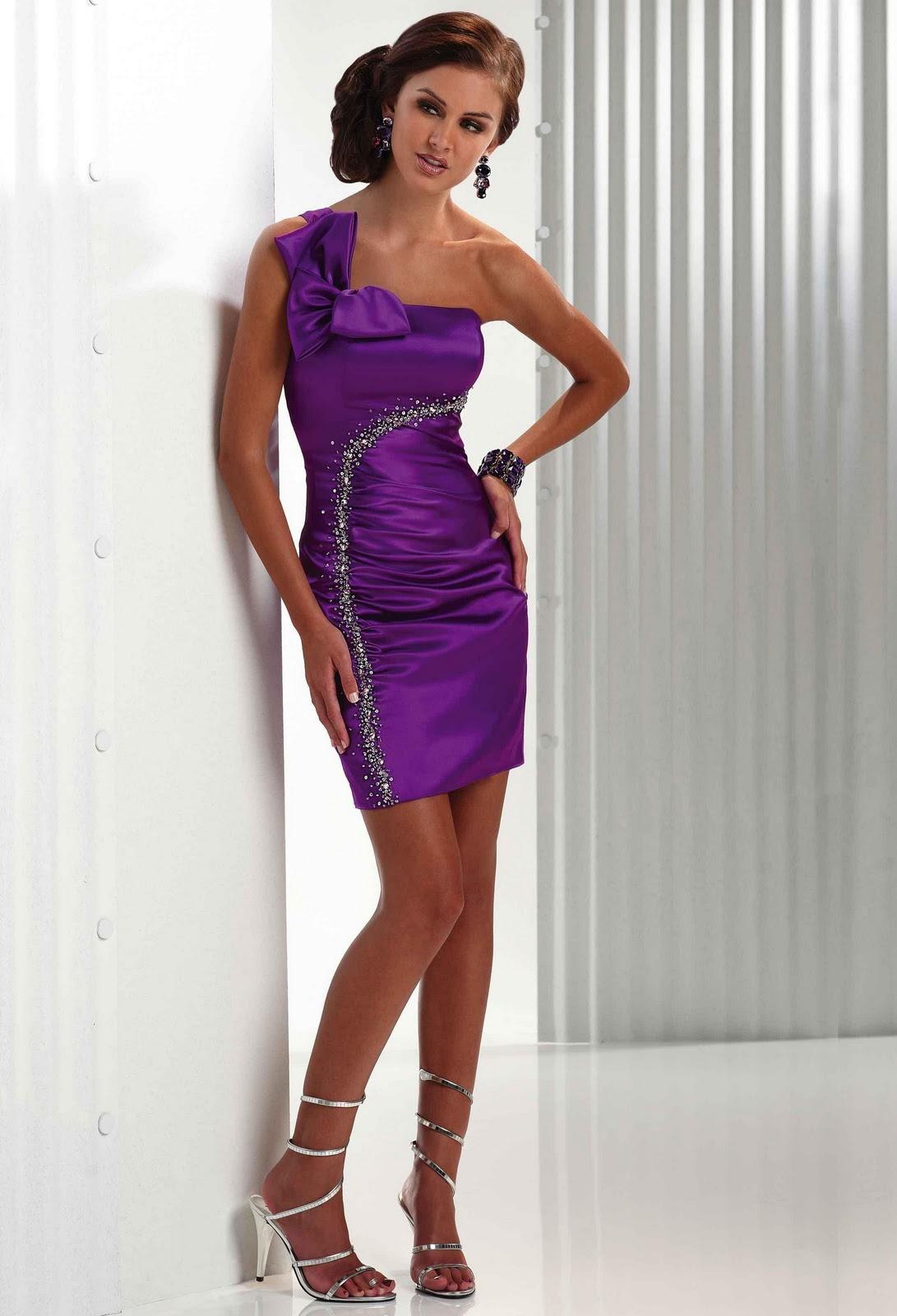 Purple and Black Wedding Dress Designs Ideas