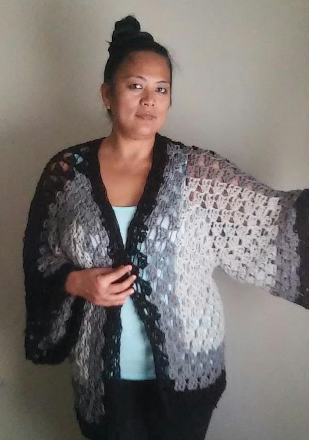 Handmade By Haniyyah Crochet Hexagon Sweater