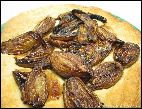 tarte aux échalotes