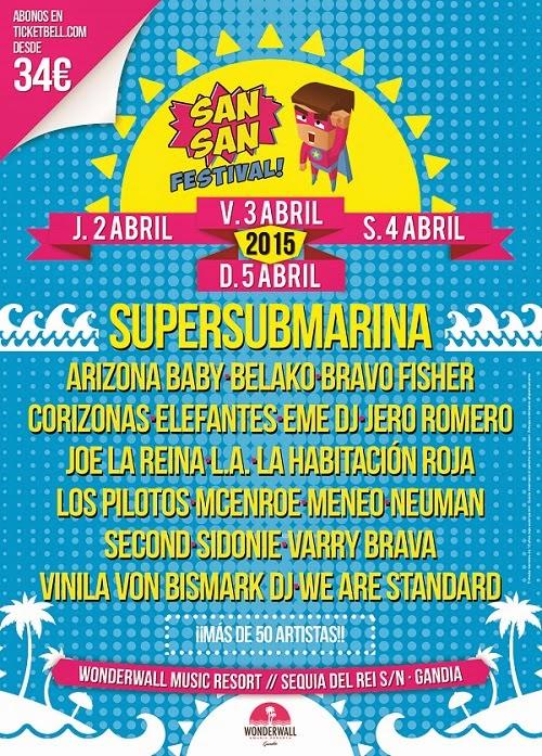SAN SAN Festival! 2, 3 y 4 de ABRIL 2015 anuncia cabeza de cartel
