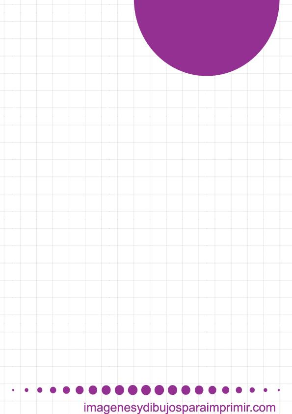 Folio de color violeta para imprimir