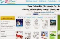 Free Printable Christmas Cards: para crear e imprimir tarjetas postales para navidad y año nuevo