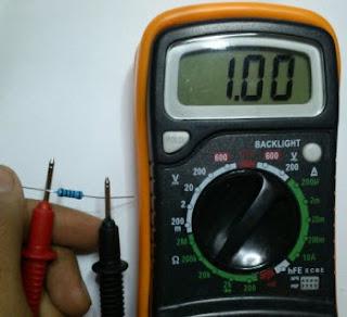 Mengukur Hambatan dan Menghitung Gelang Warna Resistor 2
