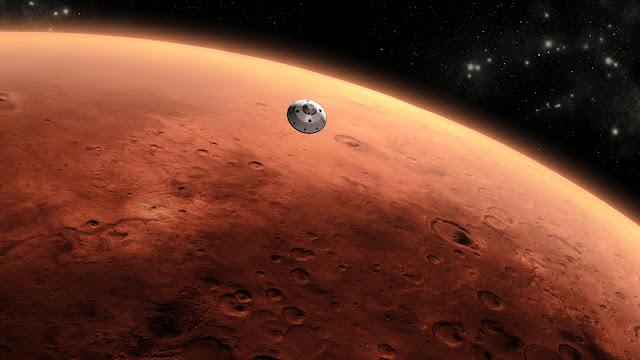 Marte y su atmosfera rojiza