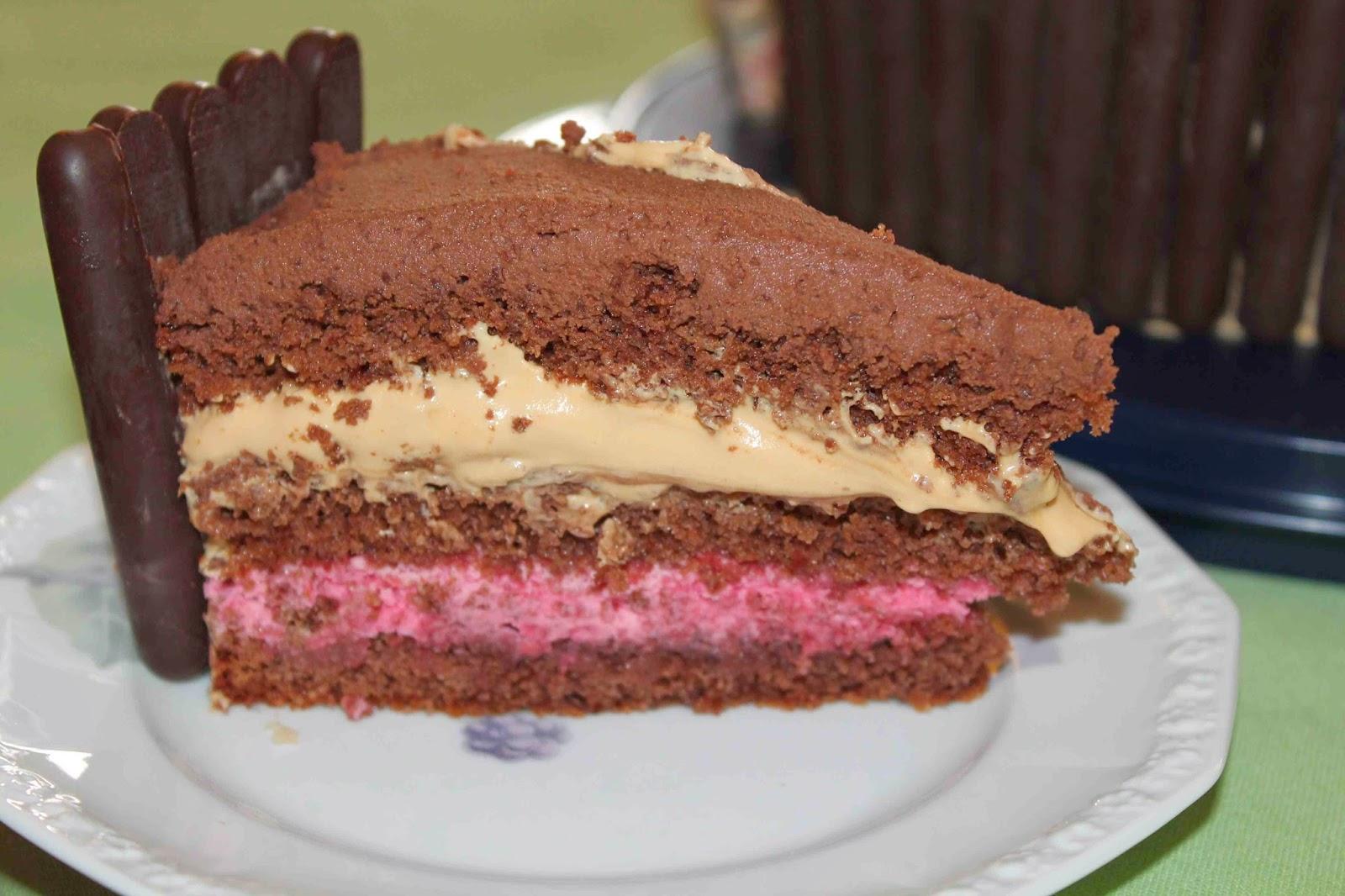 chokladtårta med hallon och ganache