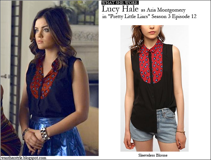 Who lucy hale as aria montgomery in pretty little liars season 3