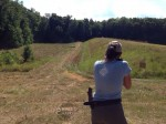 girl with rifle shoots 3 gun match