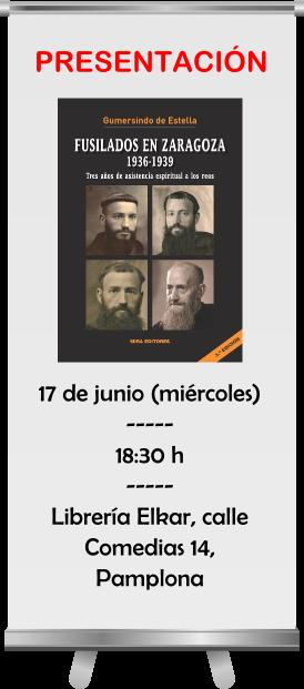 Presentación de Fusilados en Zaragoza, en Pamplona