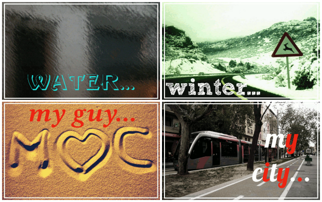 I love water, winter, my guy, my city...