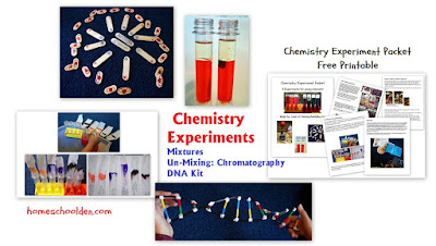 http://homeschoolden.com/2015/10/29/chemistry-experiments-for-kids-grade-2-mixtures-chromatography-dna-kit/