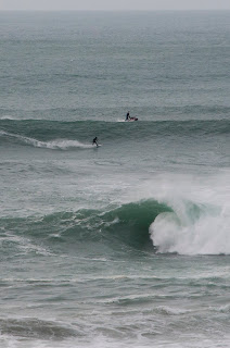 Tow in surfing Newquay Cornwall