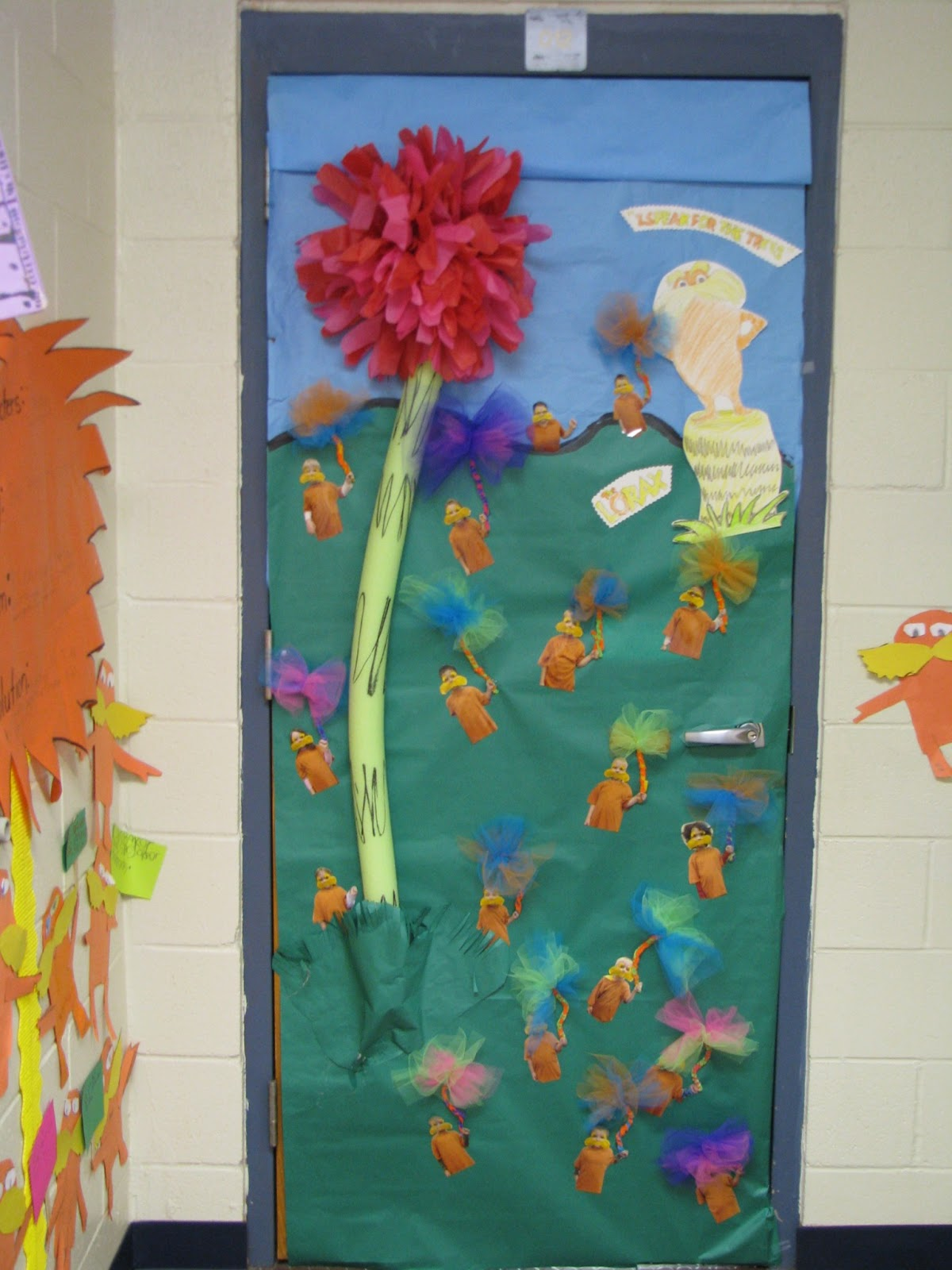 Classroom Decoration Ideas For March ~ Glitter and glue march recap door decor