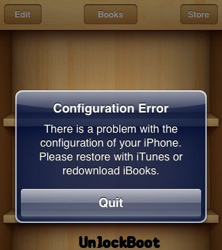 fix iBooks Configuration Error after 5.0.1 untethered jailbreak