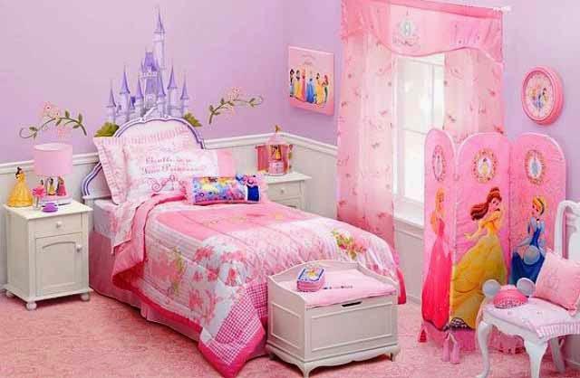 nuansa pink di kamar tidur anak perempuan desain rumah