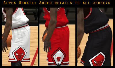 NBA 2K13 Chicago Bulls Jersey Pack