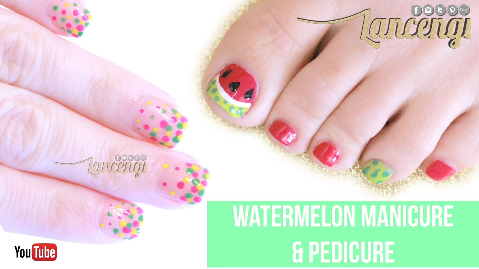 Lancengi Watermelon Nail Art Designs For Toes National Watermelon