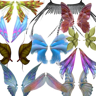collage sheet wings digital